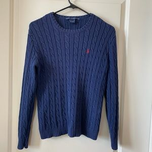 Ralph Lauren Sport Cable Knit 100% cotton sweater